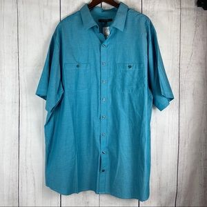 NWT Syngry Short Sleeve Button Down
